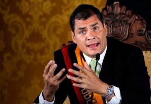 Ecuador's President Rafael Correa. Source: miltonrb.wordpress.com