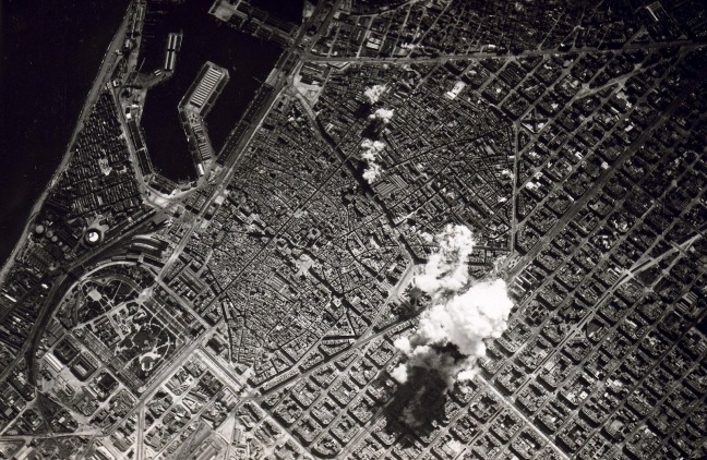 Bombardment of Barcelona, 1938. Source: Barcelonabombardejada.cat