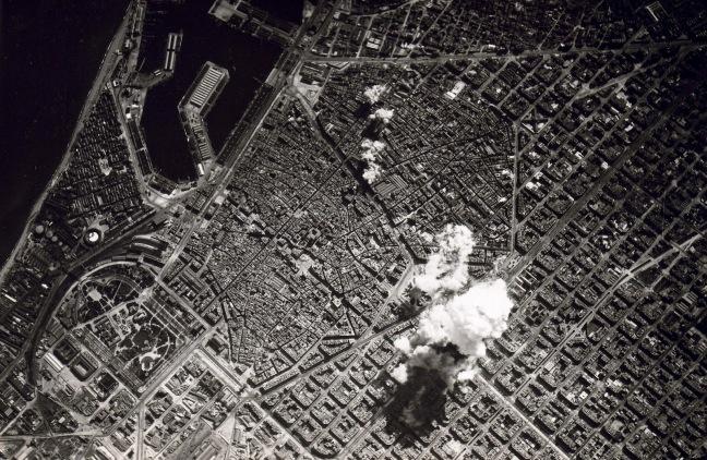 Bombardment of Barcelona, 1938. Source: Barcelonabombardejada.cat