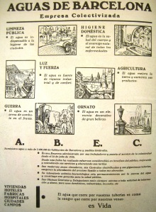 Advert by Aigüas de Barcelona. Source: Luz y Fuerza, 1937