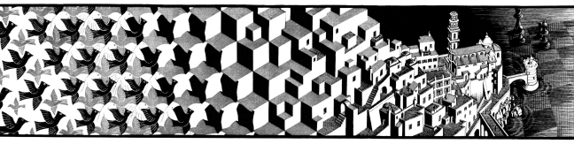 """Metamorphose"". Source:http://queaprendemoshoy.com/m-c-escher-y-el-imposible/"