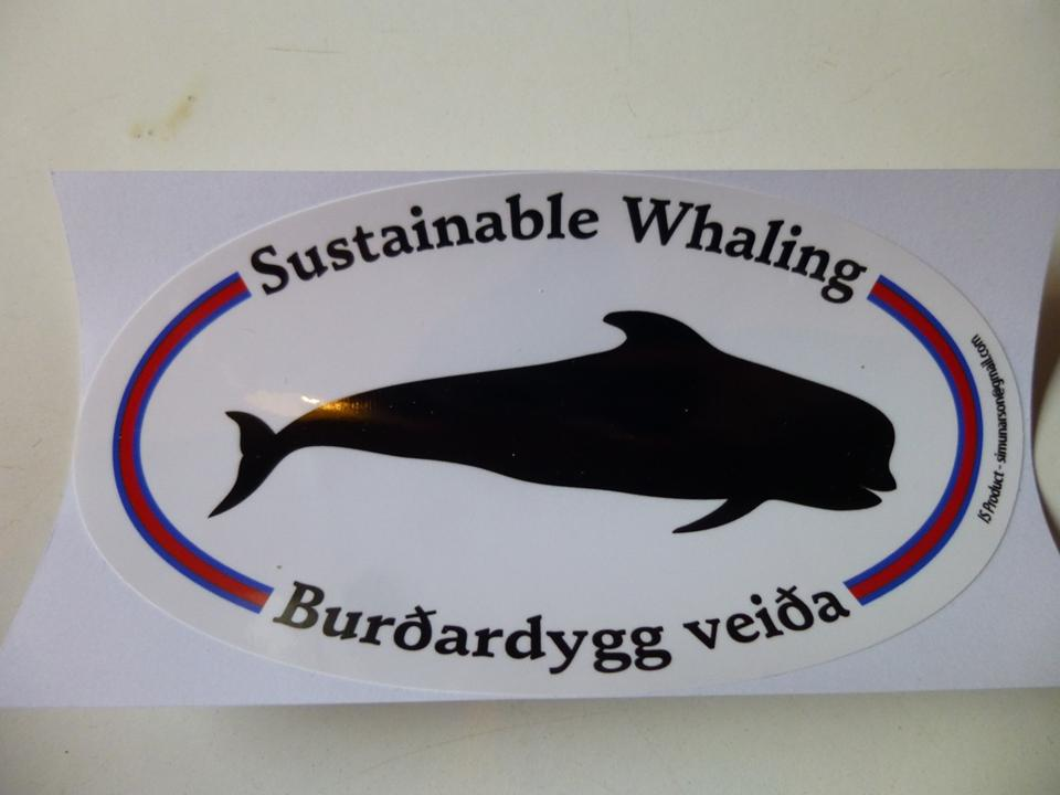 Pro-whaling bumber sticker. Source: the author
