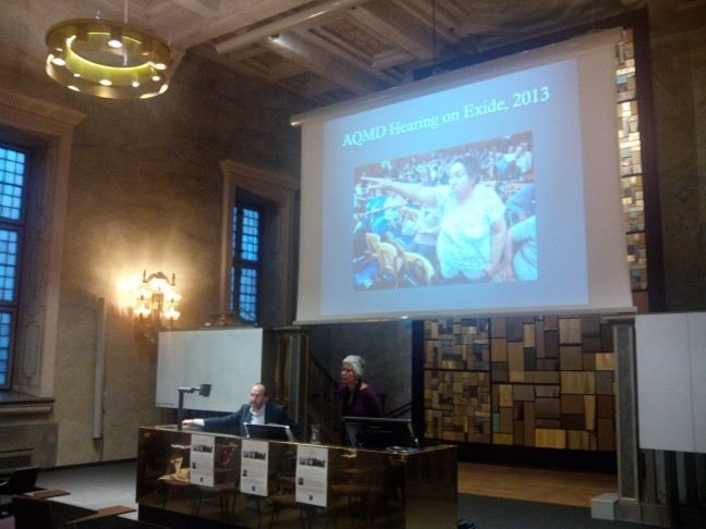 Laura Pulido prsentation at the 2014 Stockholm Archipielago Lecture. Source: Santiago Gorostiza.