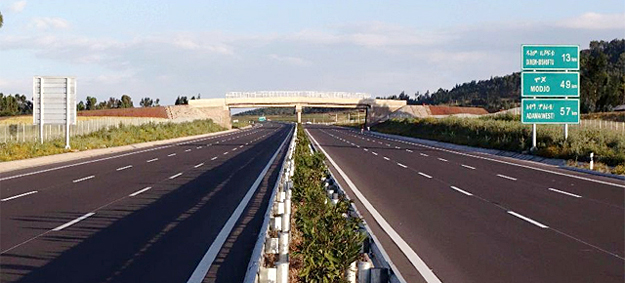 The Addis Ababa-Adama Expressway, inaugurated in 2014. Source: http://www.ethiosports.com/