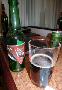A bottle of Hvalur 2 beer. Source: Benedict Singleton