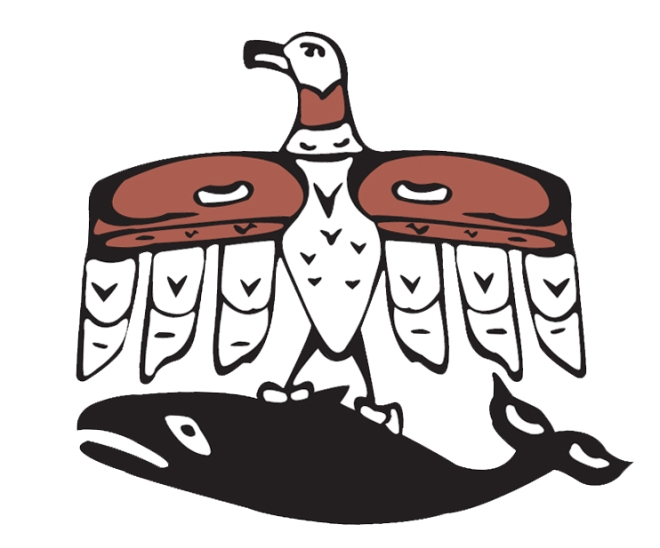 Makah symbol showing the thunderbird carrying a whale in its talons. Source: http://www.artplaceamerica.org/wp-content/uploads/2014/01/logo.jpeg