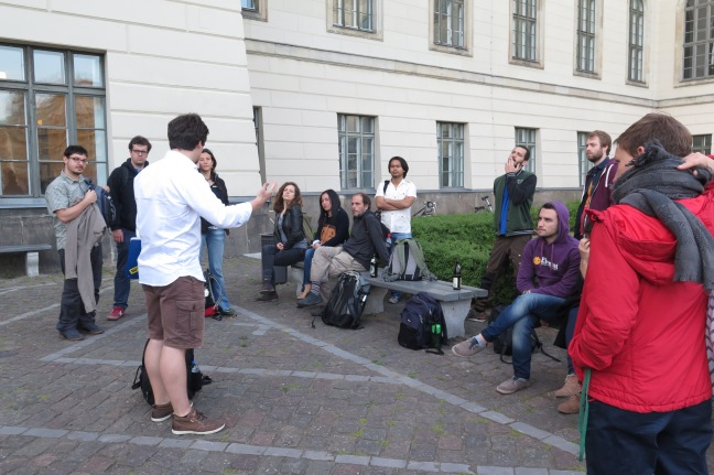 During the Berlin radical walking tour. Photo: Amelie Huber.