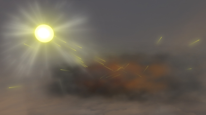 In order to keep the 'bad' Anthropocene in check, scientists have proposed using airborne particles to deflect sunlight, intentionally altering the atmosphere. Source: http://www.nasa.gov/topics/earth/features/warming_aerosols.html