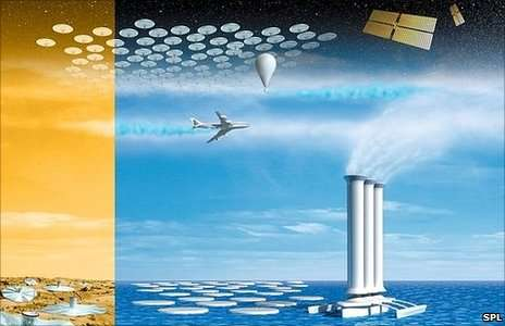 """The Anthropocene is often used to justify massive geo-engineering schemes, leading to an attitude that Richard Heinberg calls """"we're-in-charge-and-loving-it."""". Source: http://www.bbc.com/news/science-environment-11076786"""