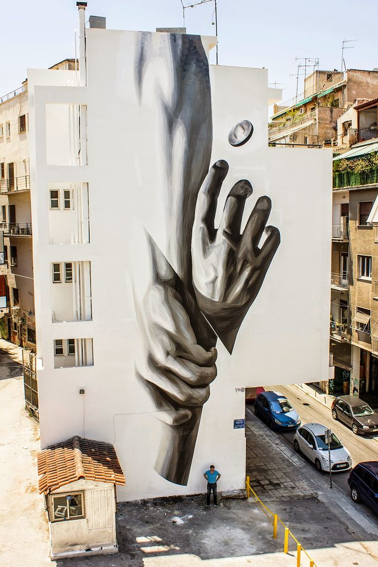 New mural in Athens by iNO. Source: http://www.streetartnews.net/2014/07/ino-wake-up-new-mural-athens-greece.html