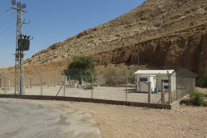 Israeli water pump next to the spring of Ras 'Ein al 'Auja. Photo by A. Huber.