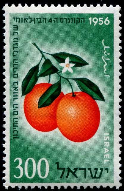 An example of the Jaffa orange, appropriated by Israel. Source: stampboards.com