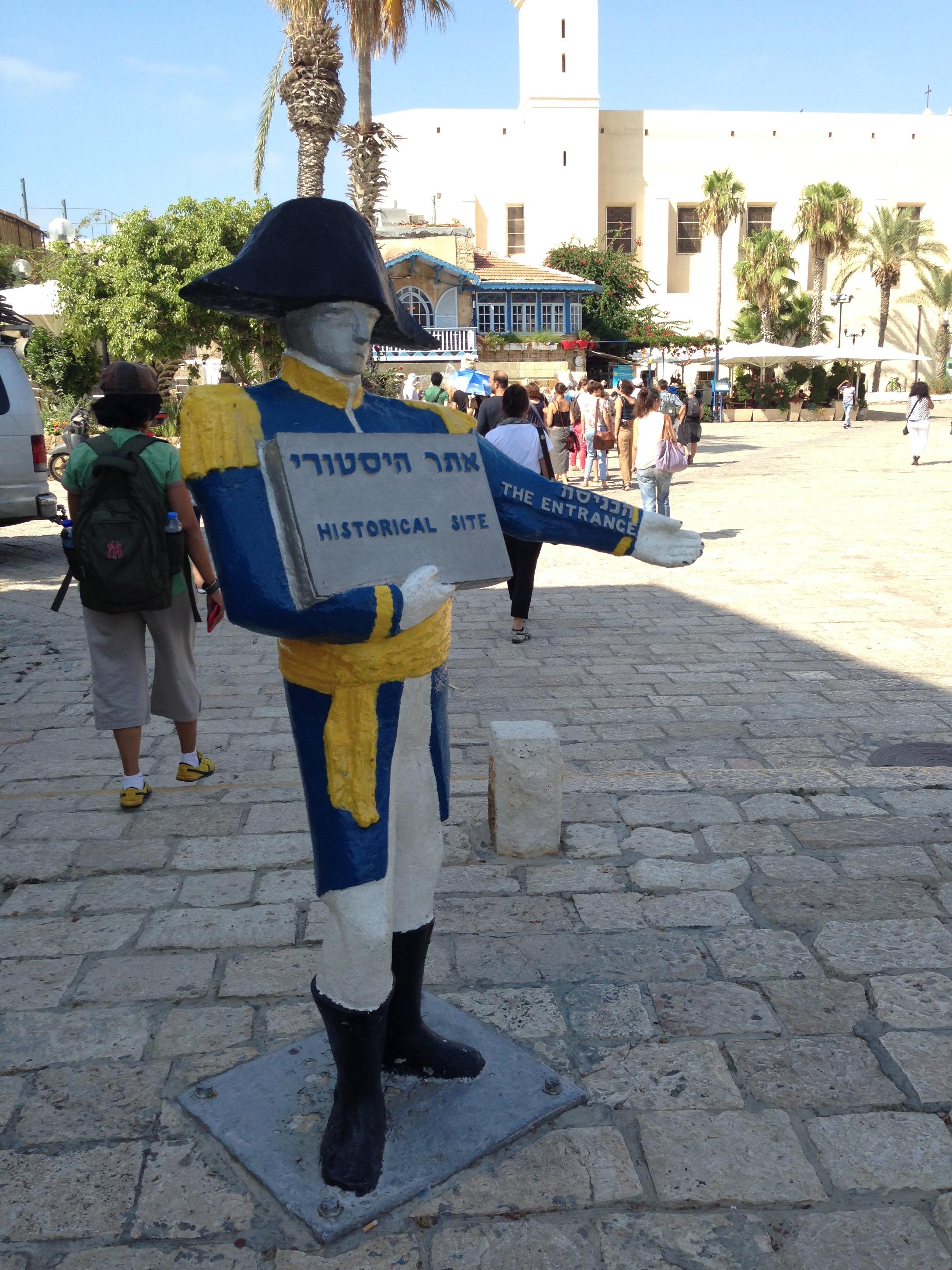 Statue of Napoleon in Jaffa today