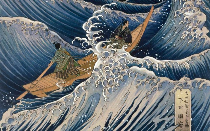 Riding the storms; detail from artwork by Kinuko Y Craft. Photo by National Geographic/Corbis