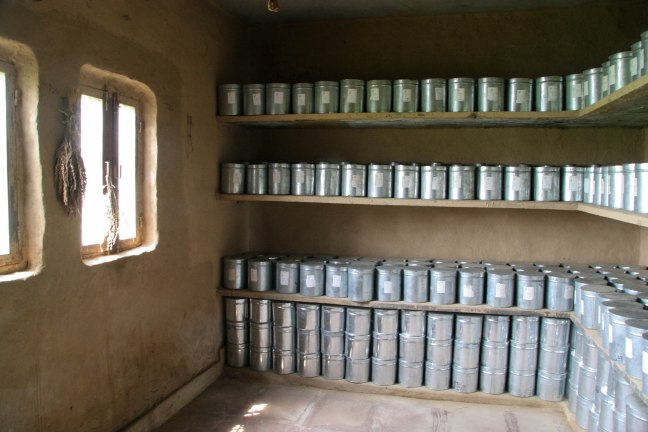 Seed bank at Navdanya's biodiversity conservation farm near Dehra Dun, Uttarakhand, India. Source: gatherandgrow.org.