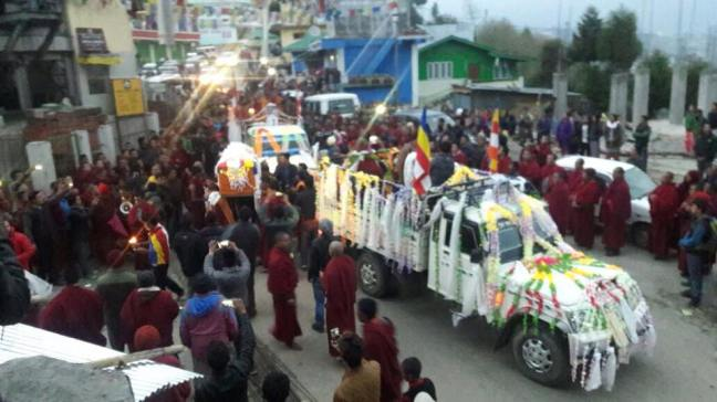 The mortal remains of the two killed activists are being taken to Tawang monastery for cremation. Source: Save Mon Region Federation.