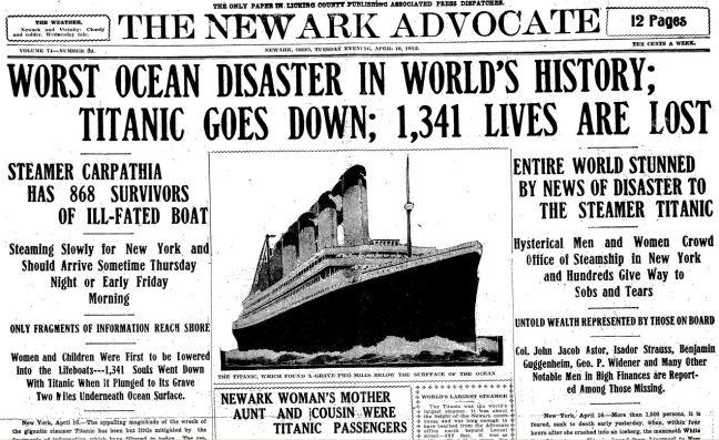 titanic-worst-ocean-disaster-in-history-newark-advocate-16-apr-1912