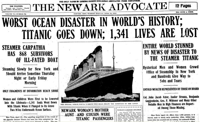 titanic-worst-ocean-disaster-in-history-newark-advocate-16-apr-1912