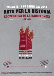 "Poster ""El Segle XX és pel barri"" (""The Twentieth Century is for the neighbourhood""). Source: Grup de Recerca de la Memòria Cooperativa de la Barceloneta."