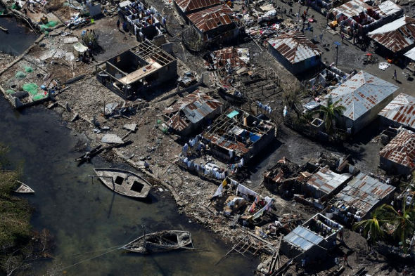 Devastation in Jérémie. Photograph: Xinhua/Barcroft Images. Source: The Guardian