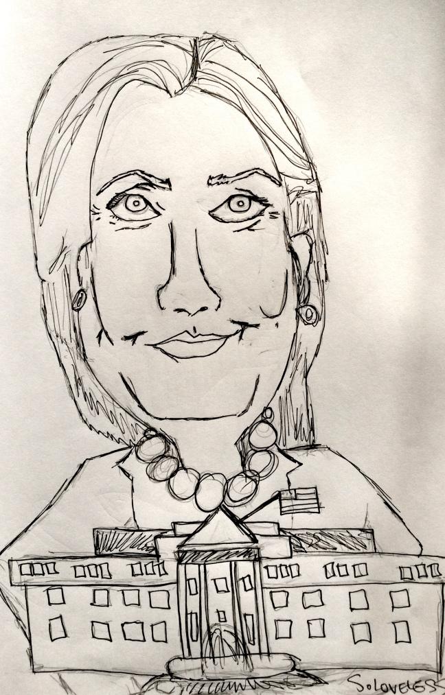 Hillary Clinton (source: S. Loveless)