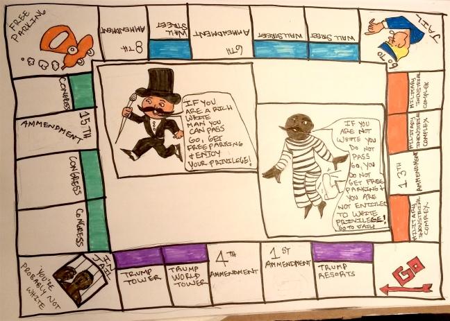 Racial Monopoly by Stephanie Loveless