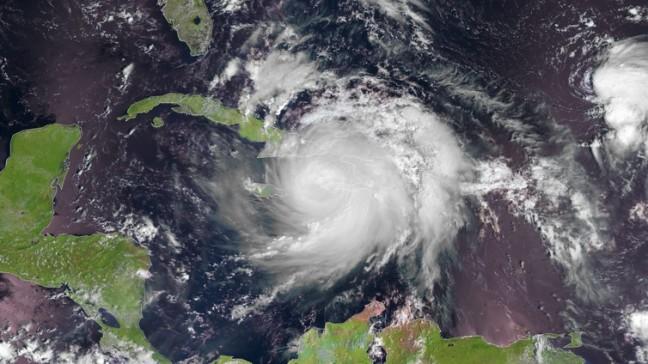 Hurricane Matthew crosses Haiti as a category 4 storm. EPA/2016 EUMETSAT
