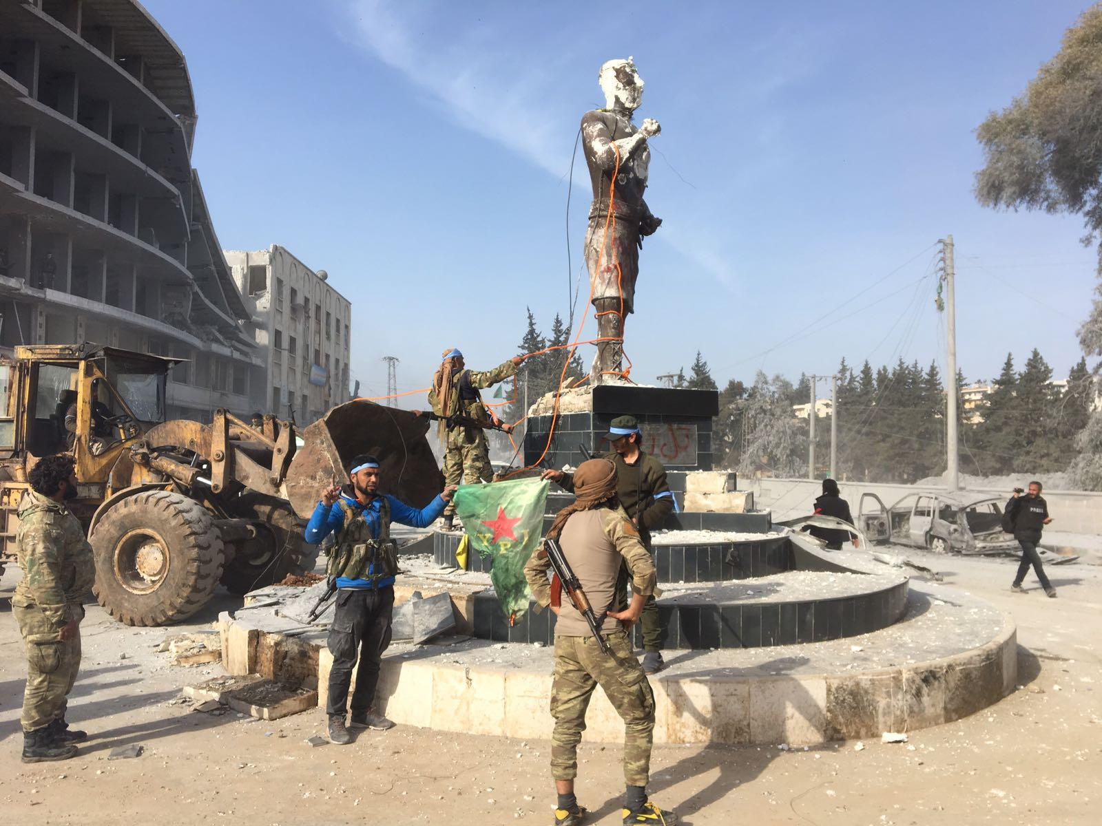 Kawa the blacksmith Afrin city centre